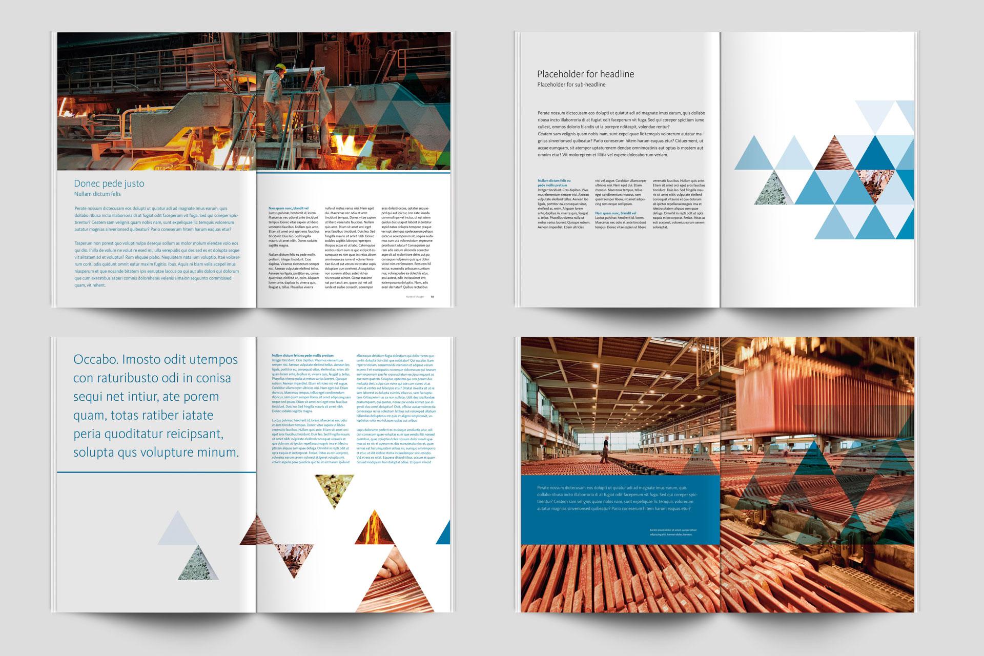 Corporate Design für Aurubis, Beispiel Broschürendesign