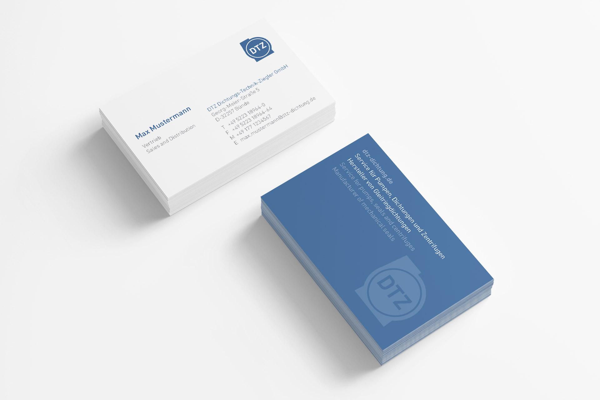 dtz-corporate-design visitenkarte