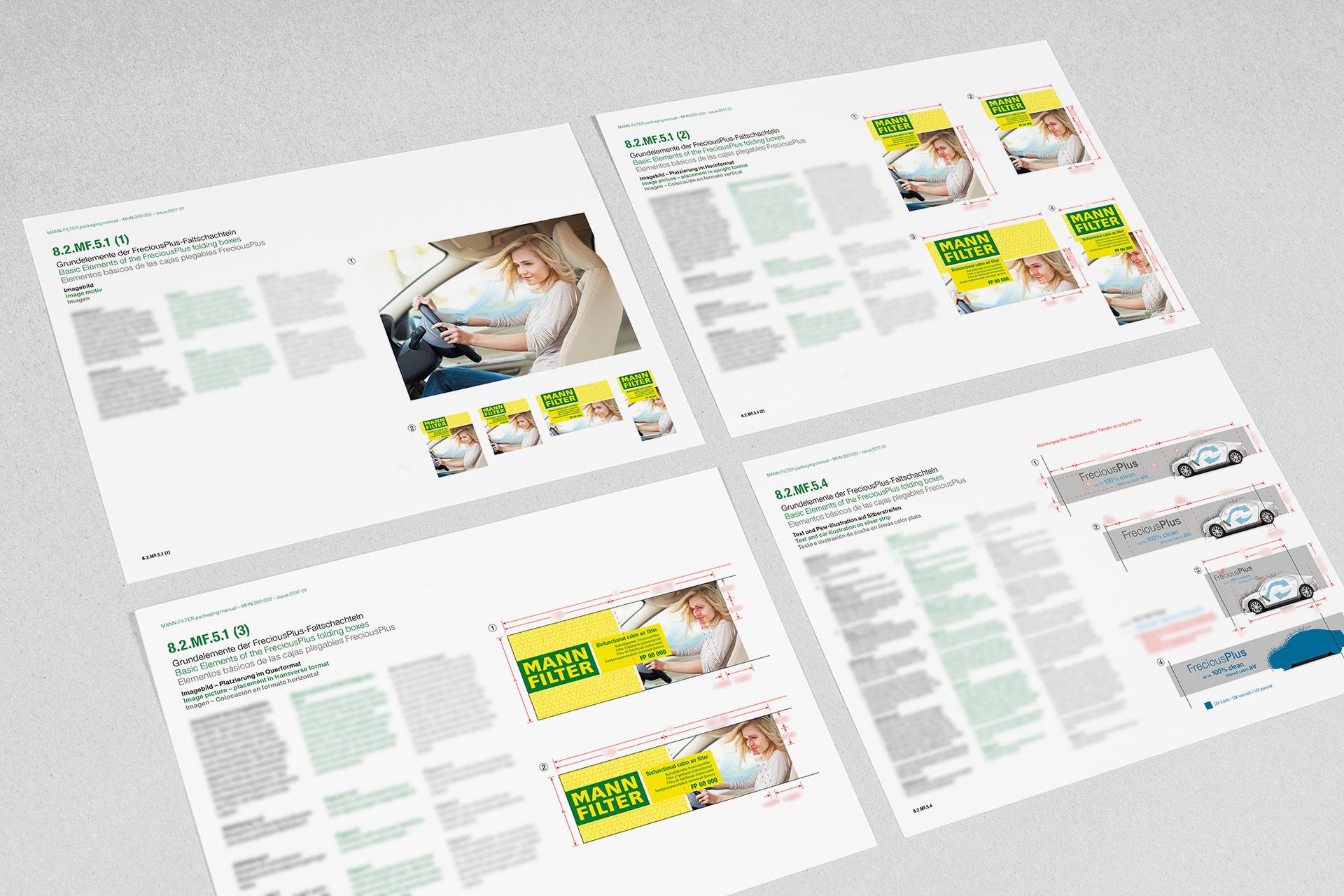 freciousplus verpackungsdesign manualseiten