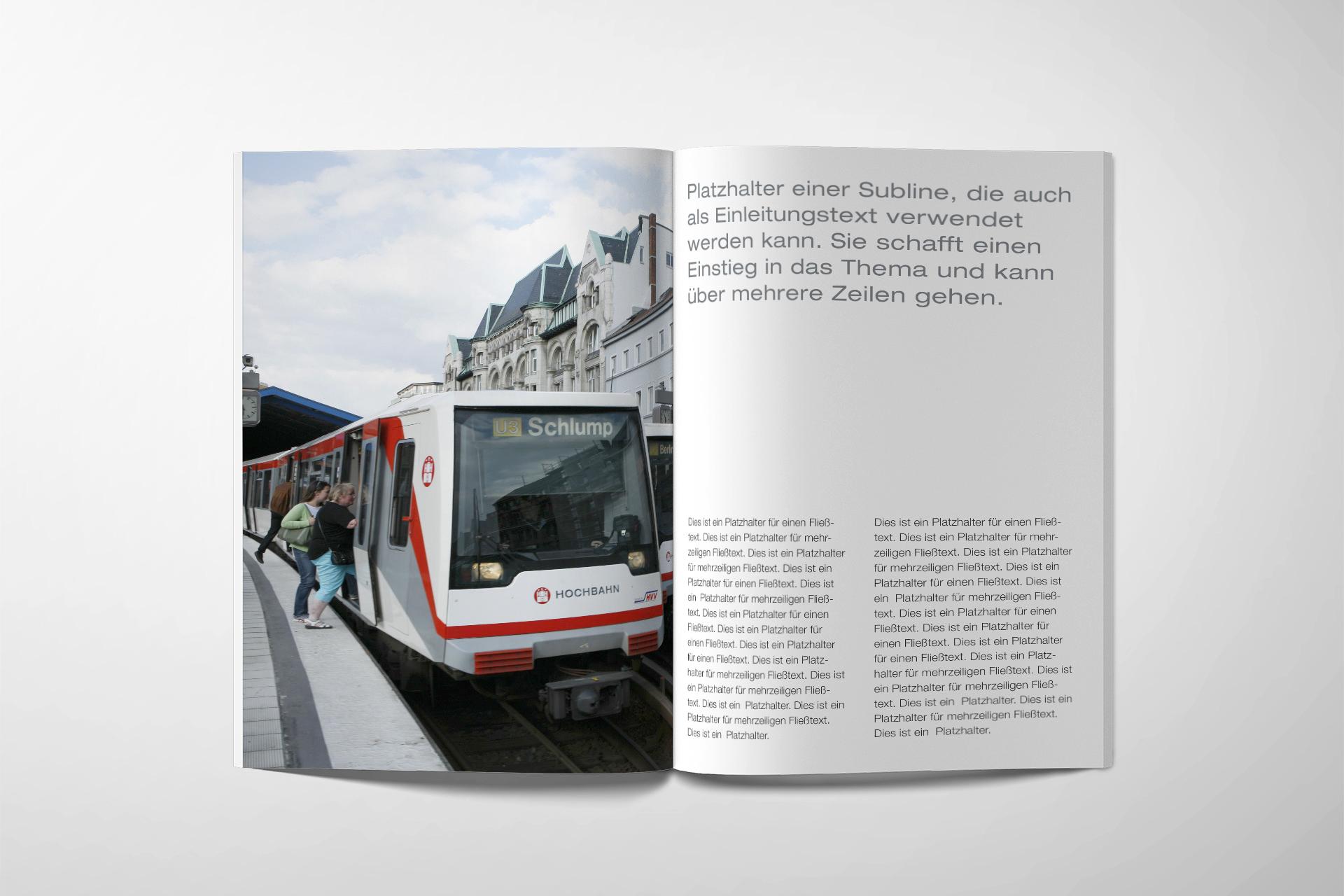 hochbahn-corporate-design Broschüren design