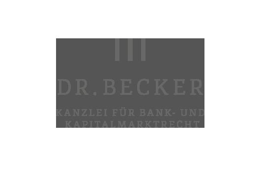 Corporate Design für Kanzlei Dr. Becker, Beispiel Logodesign