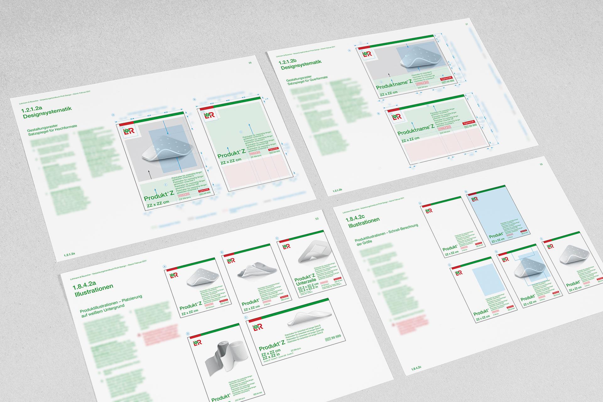 lohmann-rauscher verpackungsdesign manualseiten