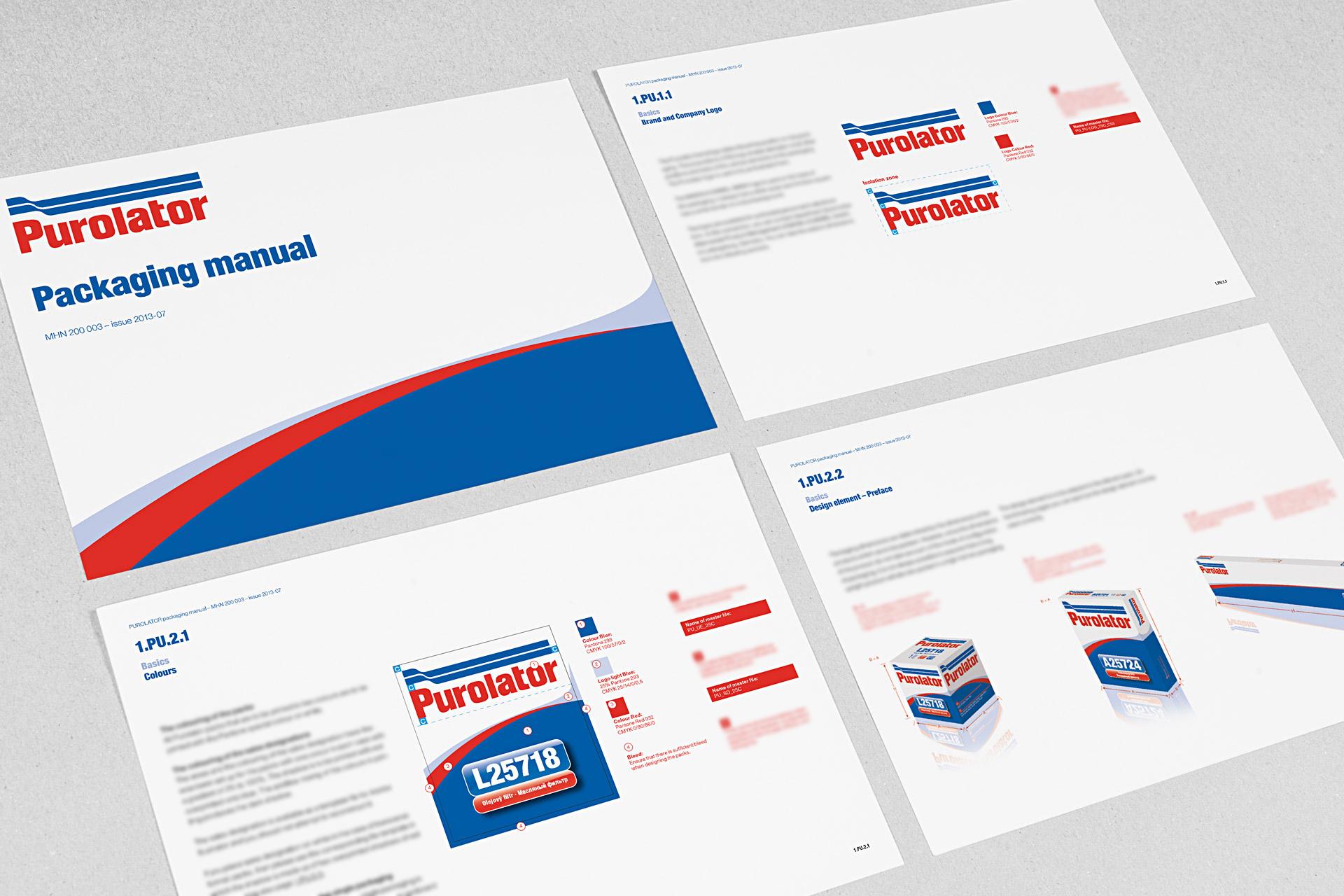 purolator-verpackungsdesign manualseiten