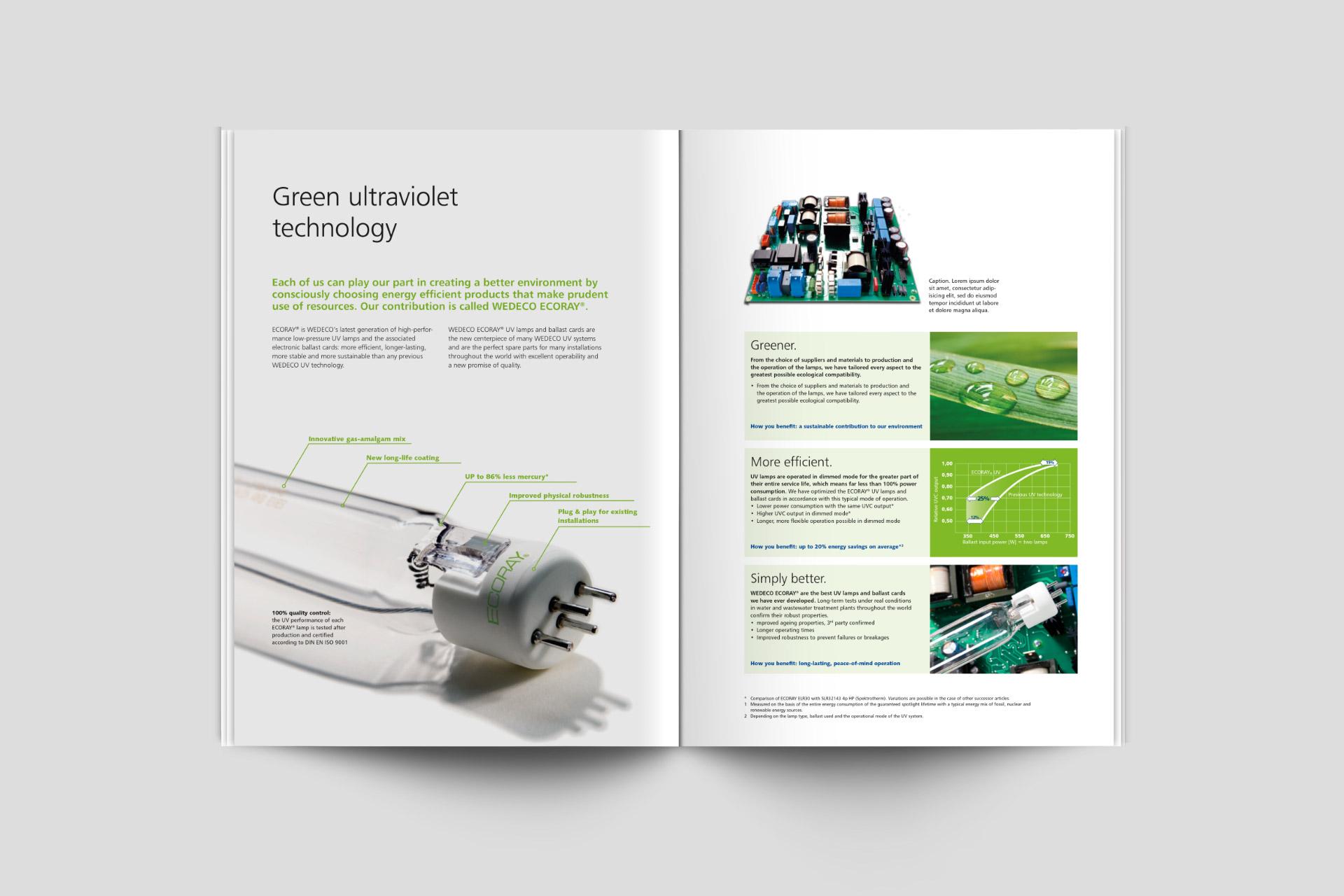 wedeco-verpackungsdesign Broschüren design