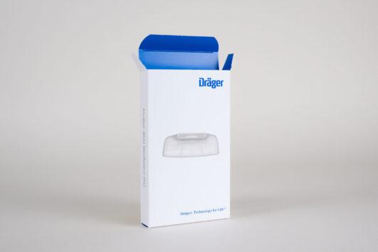 Verpackungsdesign für Dräger, Beispiel Verpackungsdesign