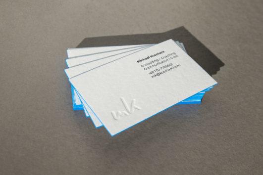 Corporate Design für Michael Koschare, Beispiel Visitenkarte