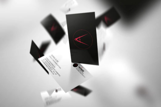 Corporate Design für Heinze Akademie, Beispiel Visitenkarten