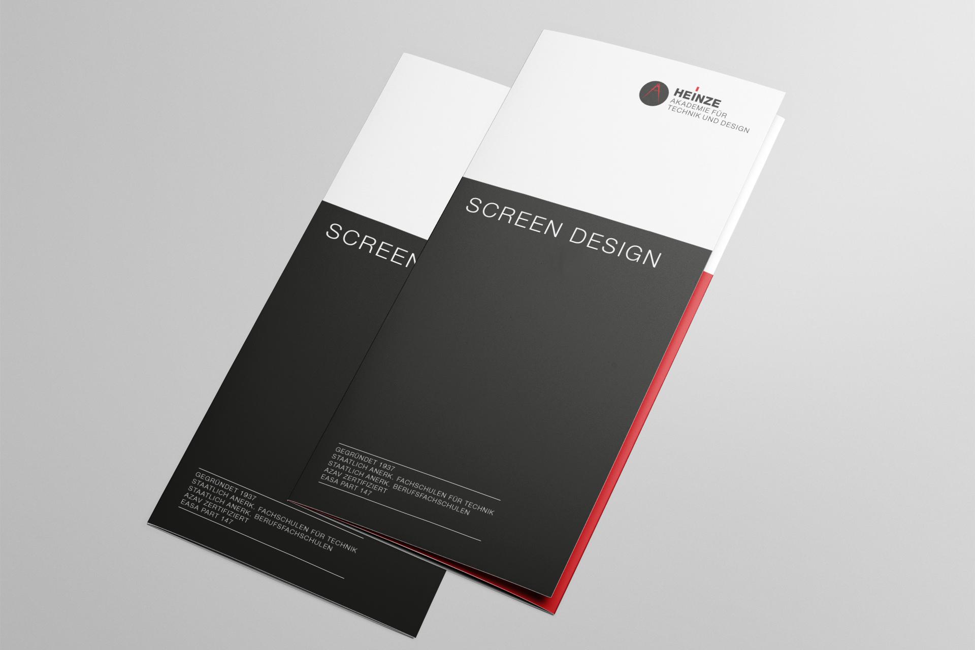 Corporate Design für Heinze Akademie, Beispiel Flyerdesign