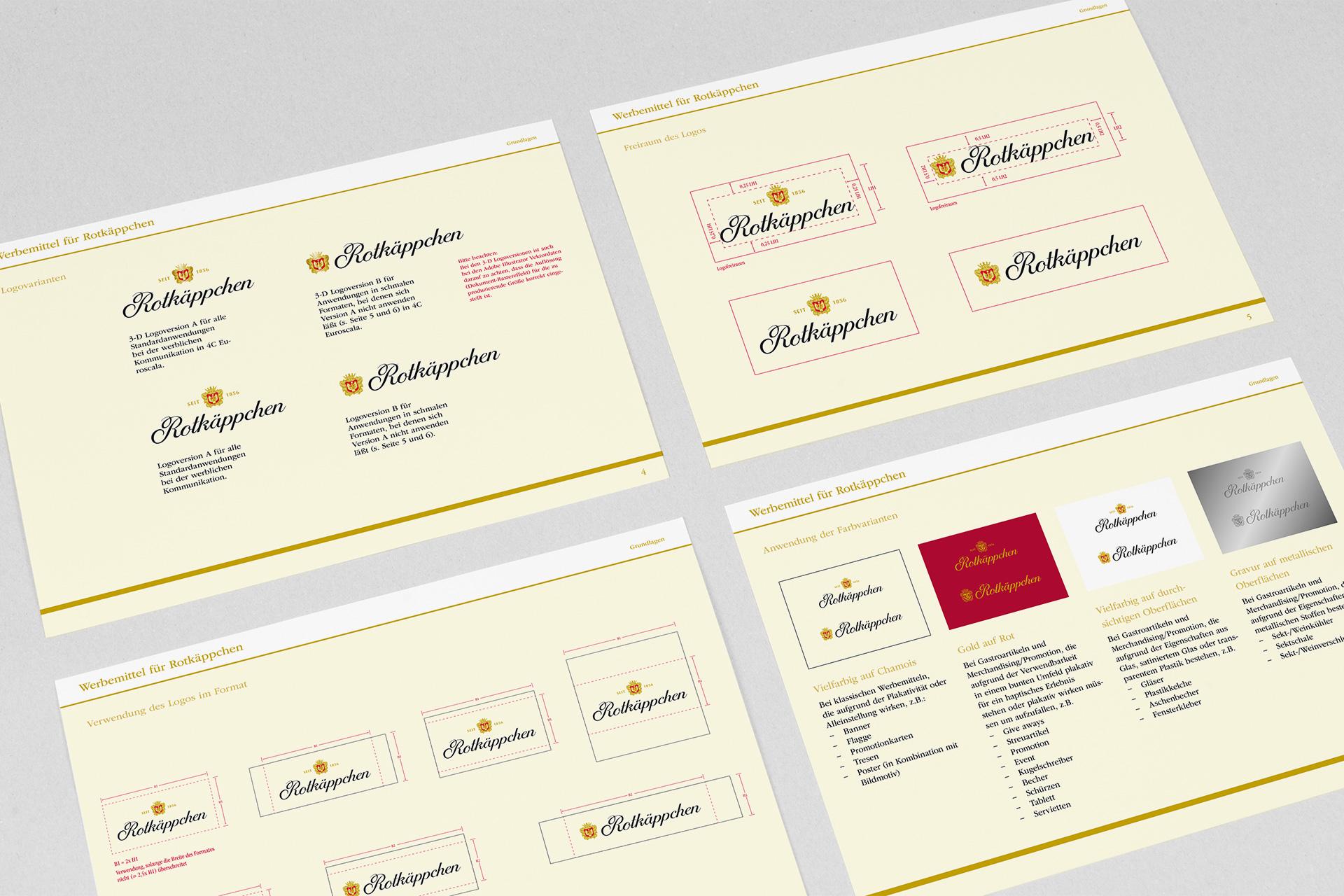Designmanual Bereich Werbemittel für Rotkäppchen