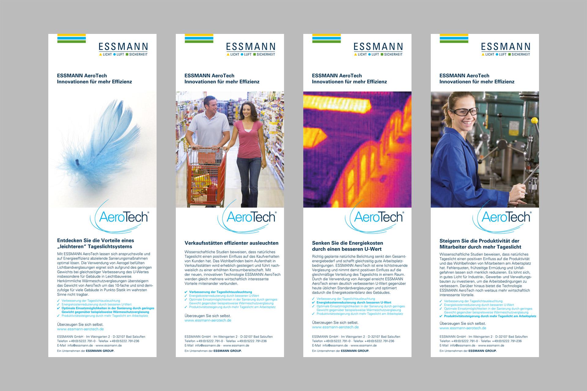 Corporate Design für Essmann, Beispiel Anzeigendesign
