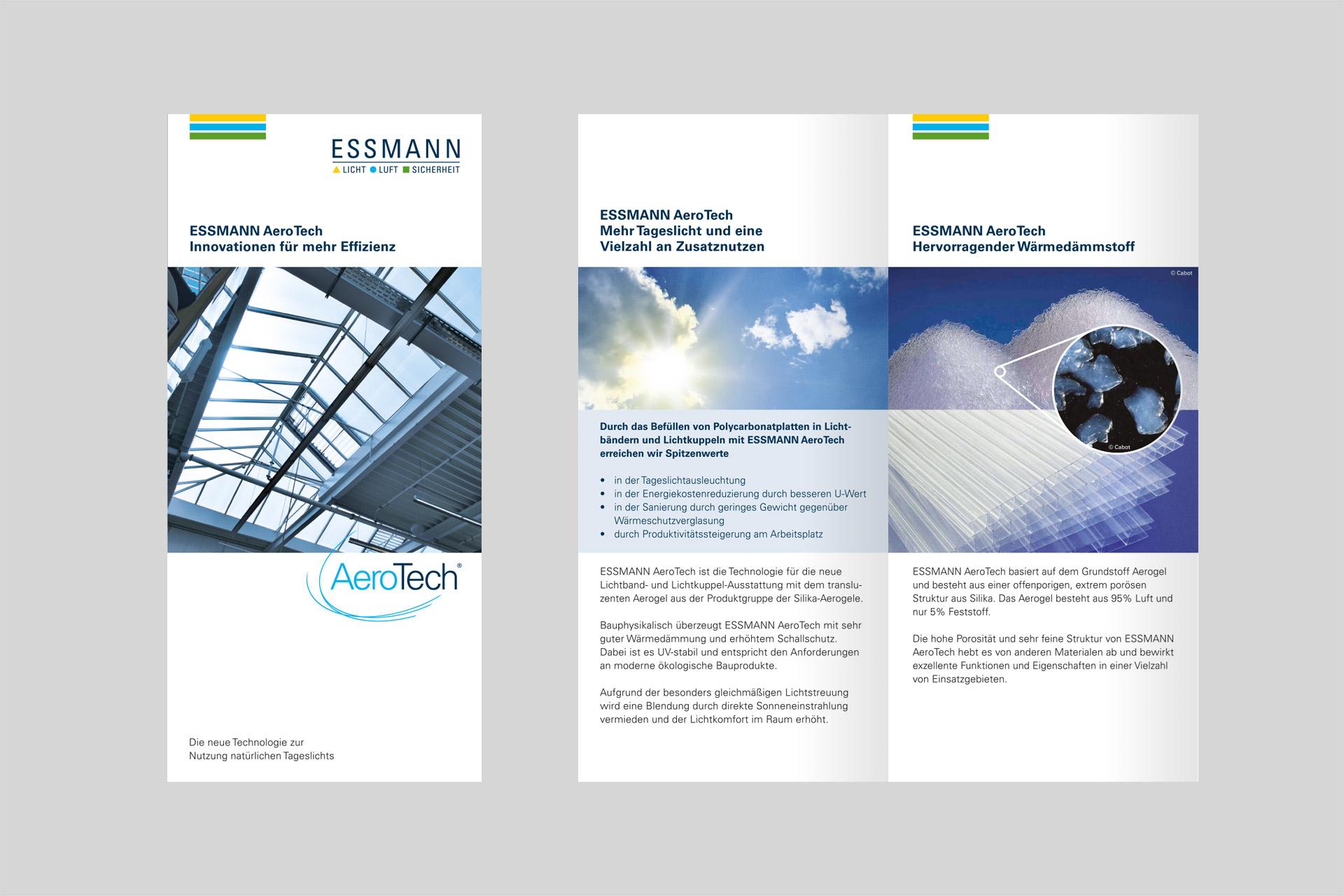Corporate Design für Essmann, Beispiel Flyerdesign
