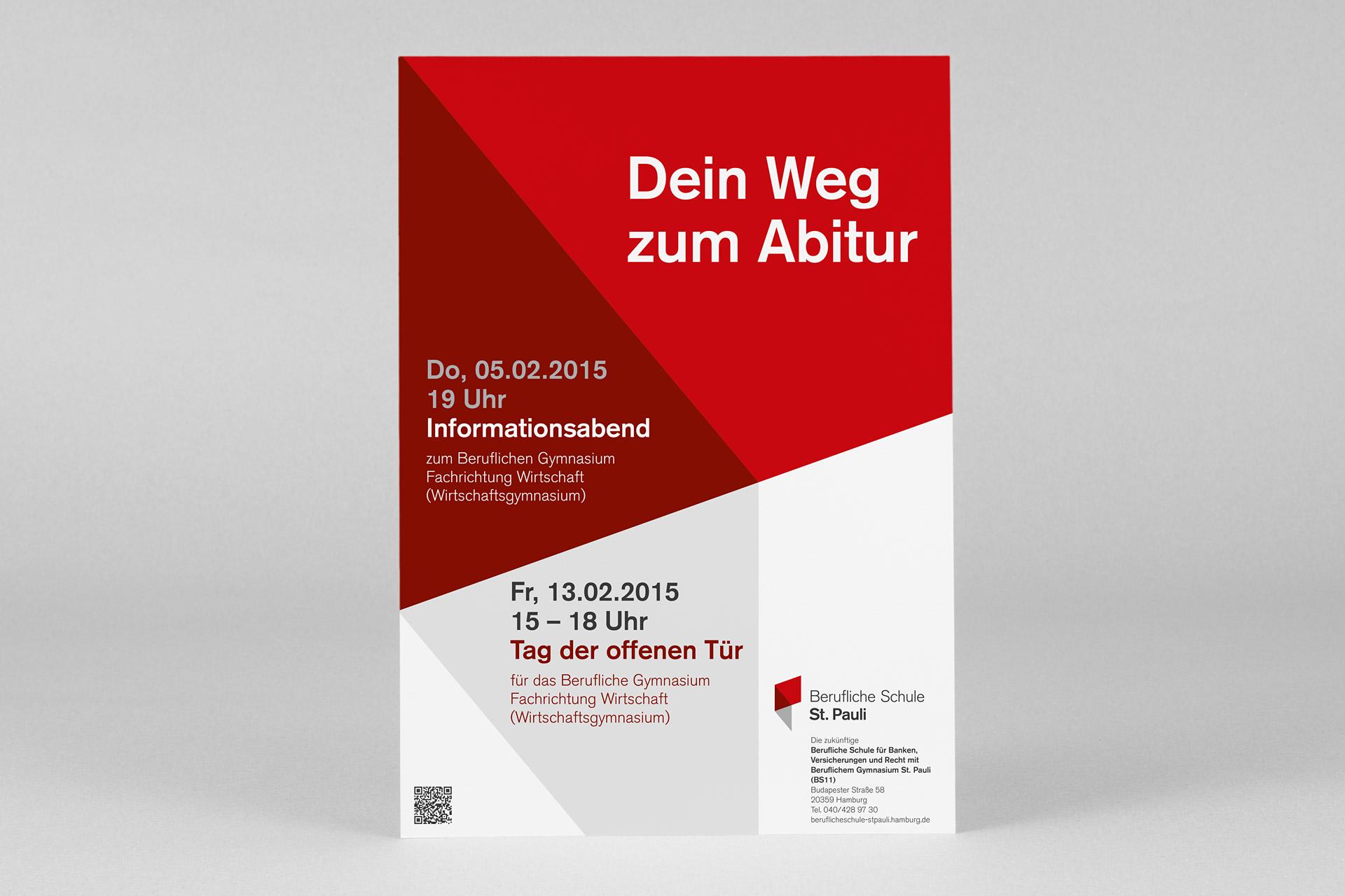 Corporate Design für Berufliche Schule St. Pauli, Beispiel Posterdesign