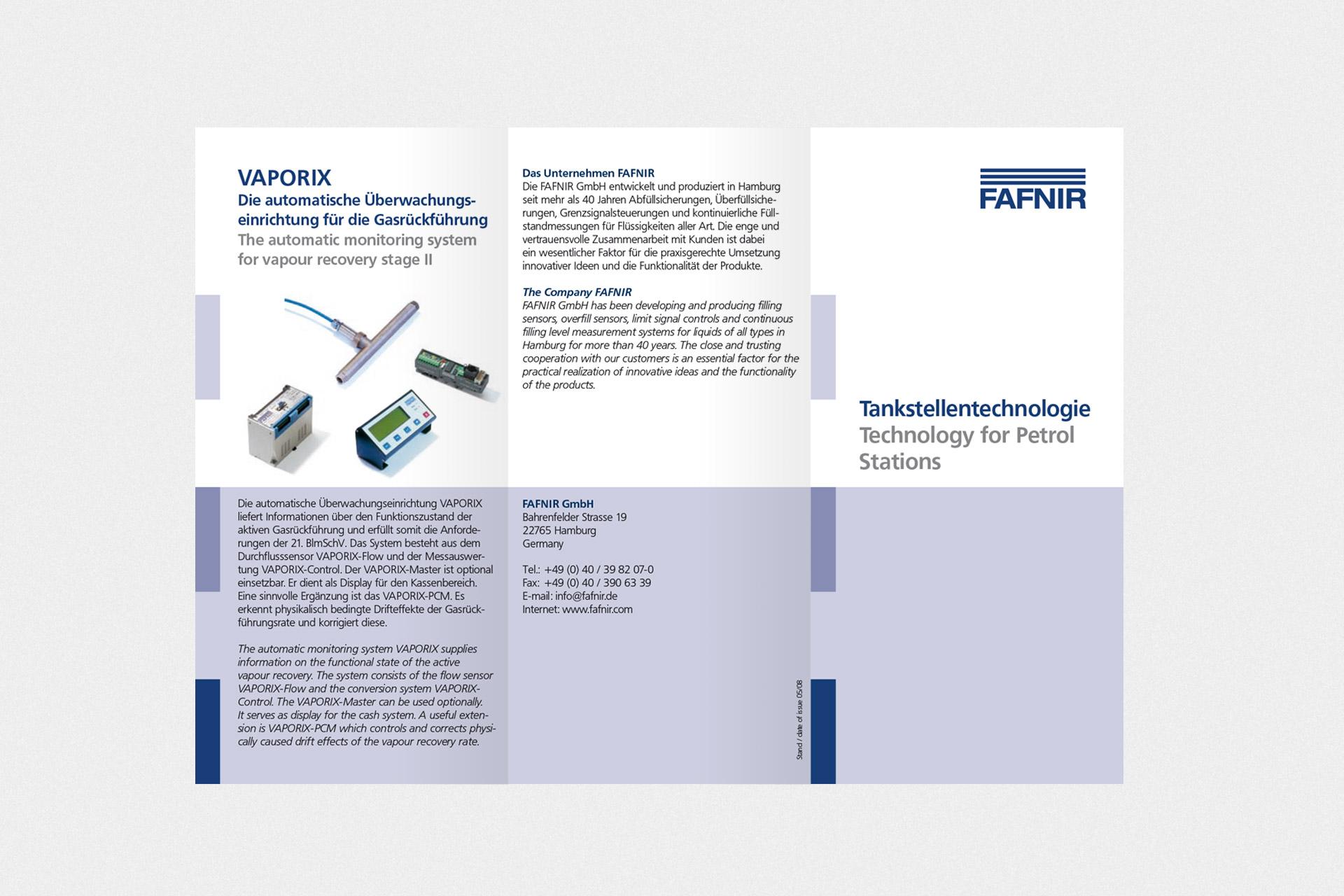 Corporate Design für FAFNIR, Beispiel Flyerdesign