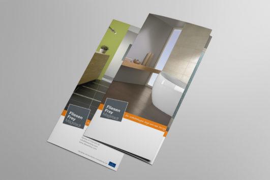 Corporate Design für FliesenFrey, Beispiel Flyer