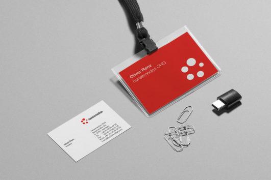Corporate Design für hansemedias, Beispiel Logodesign