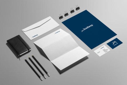 Corporate Design für Leadway, Beispiel Geschäftsausstattung