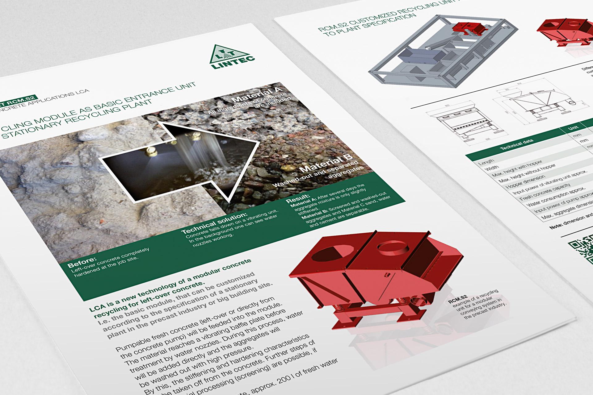 Corporate Design für Lintec, Beispiel Flyerdesign