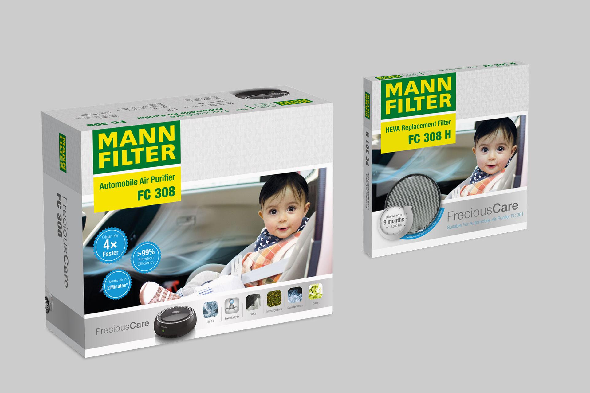Verpackungsdesign für MANN+HUMMEL China