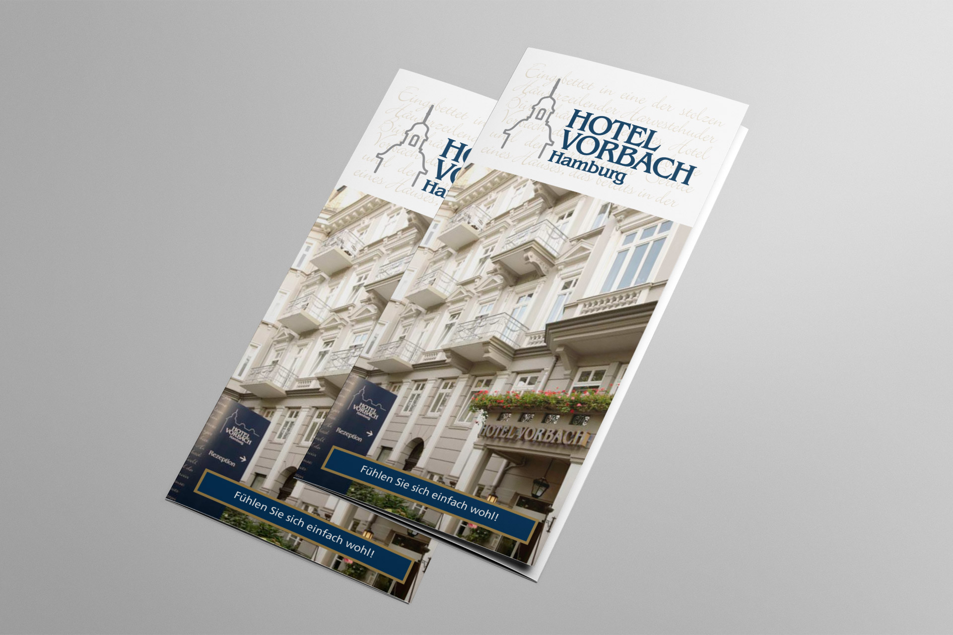 Corporate Design für das Hotel Vorbach, Beispiel Flyer