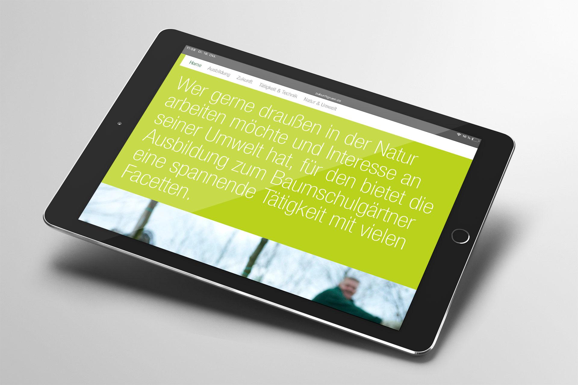 Webdesign im Corporate Design von Bund deutscher Baumschulen