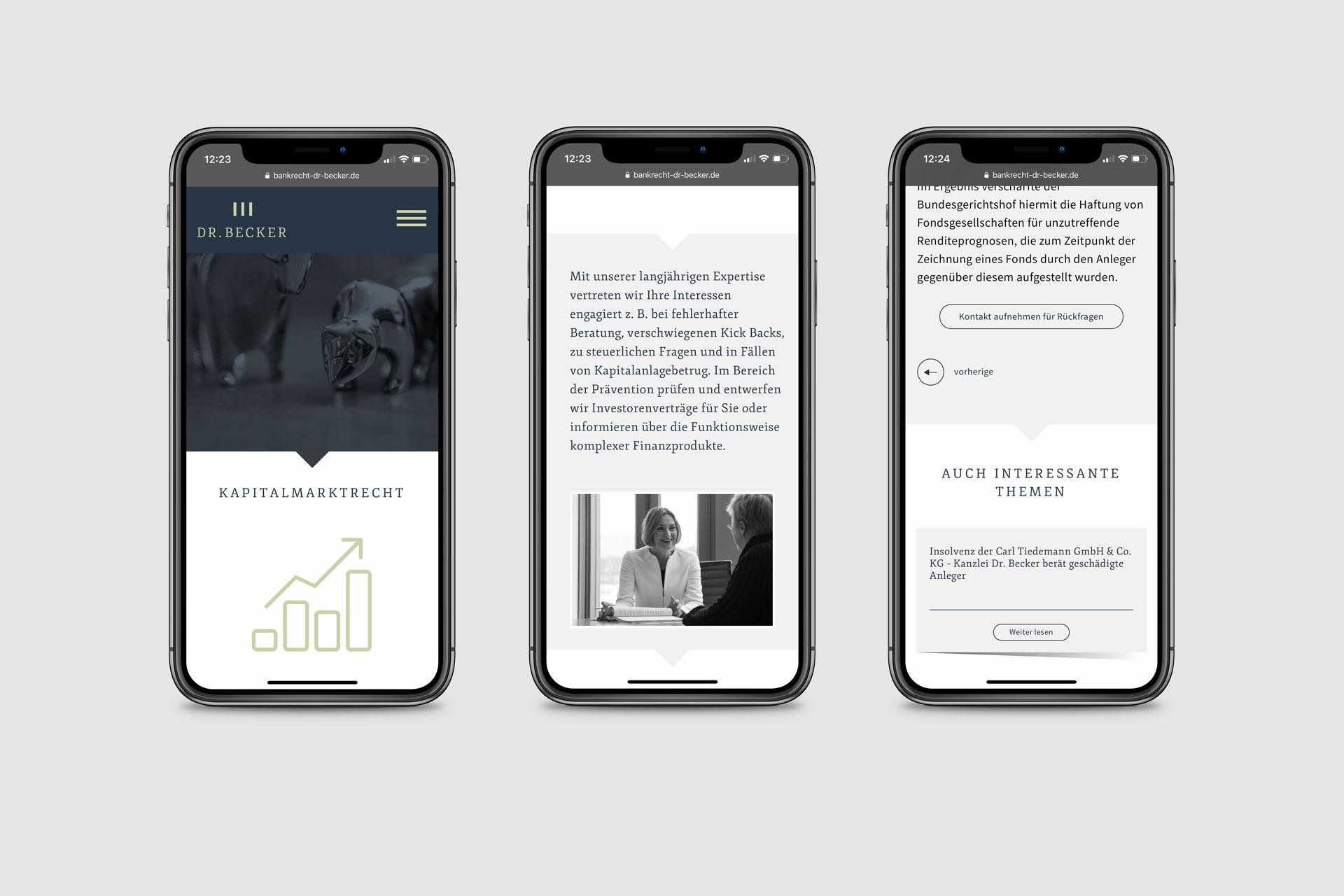 Webdesign im Corporate Design von Kanzlei Dr. Becker