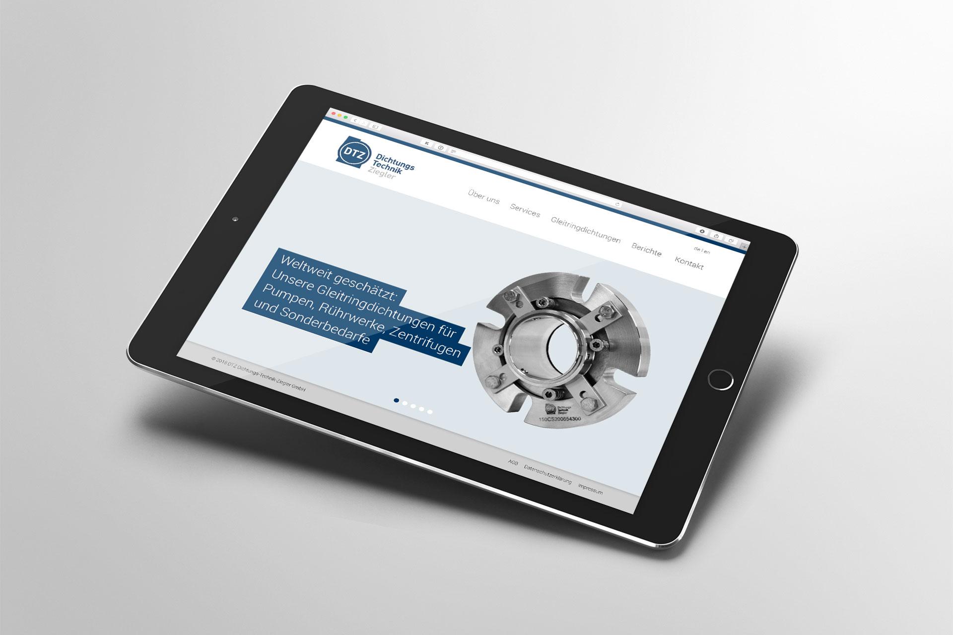 Webdesign im Corporate Design von DTZ