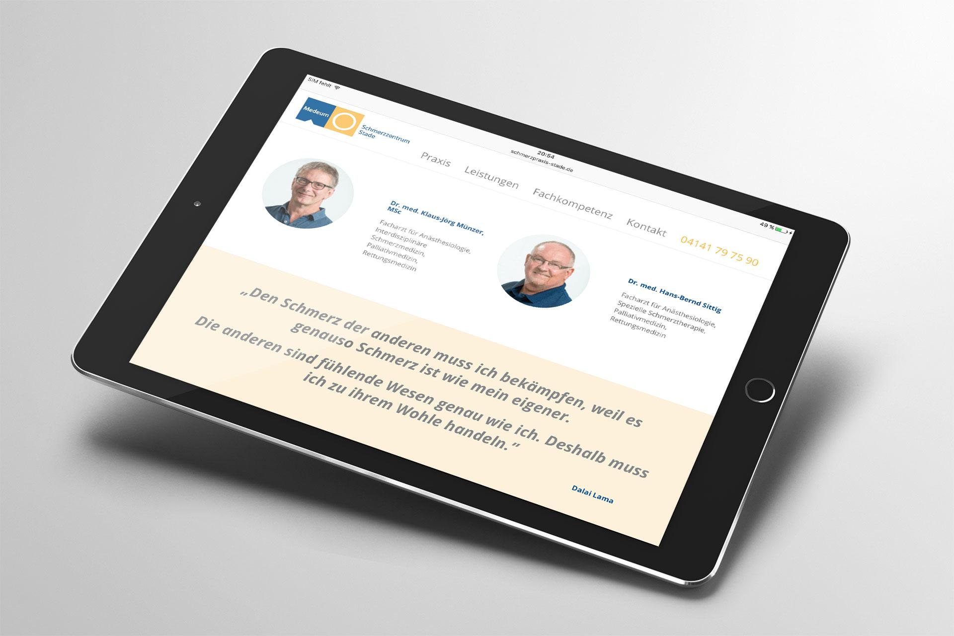 Webdesign im Corporate Design von Medeum
