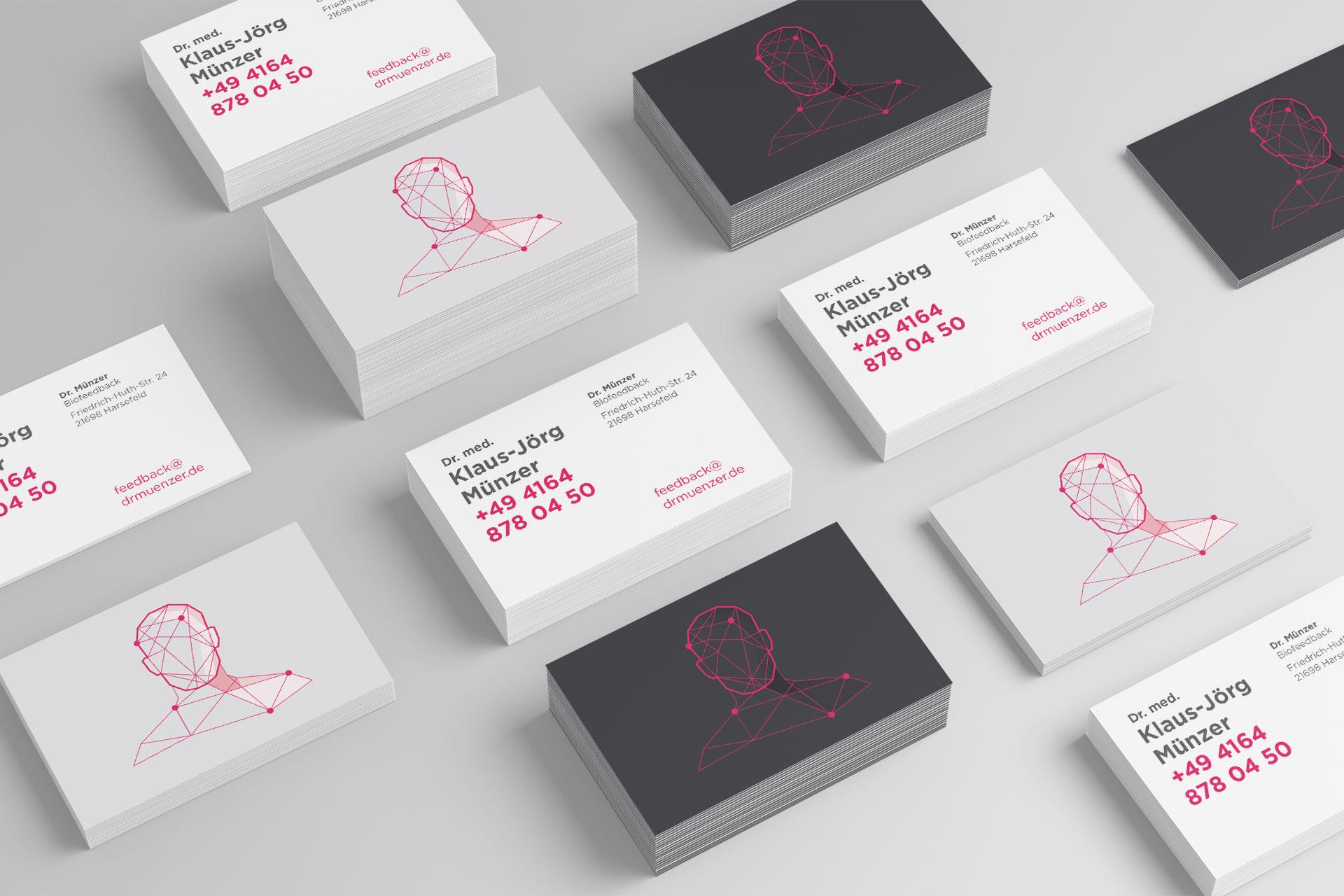 Visitenkarte im Corporate Design von Dr. Münzer