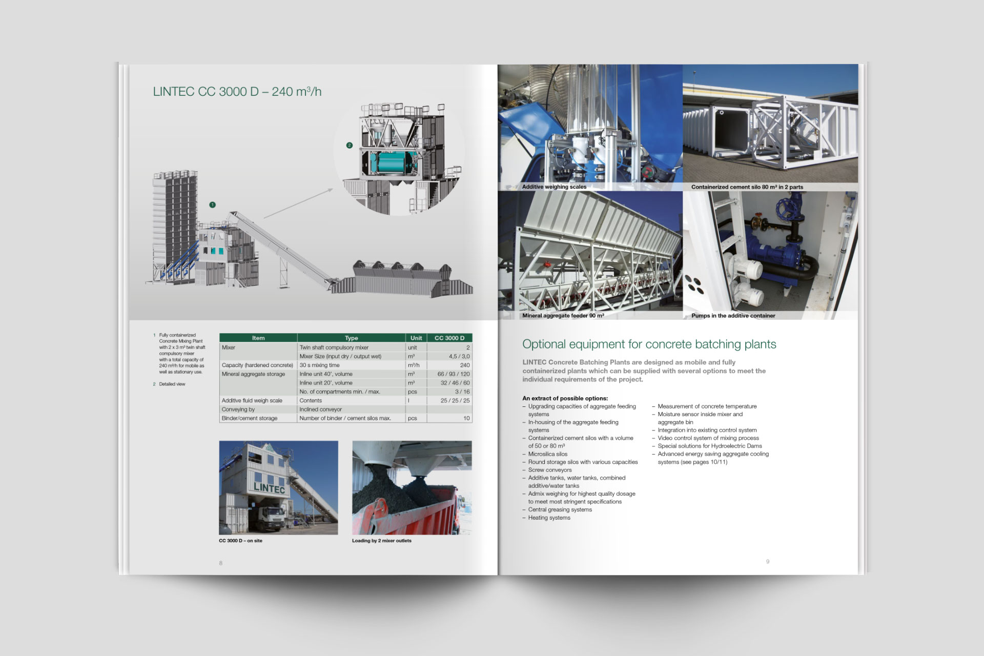 Lintec Group Broschürendesign im Corporate Design